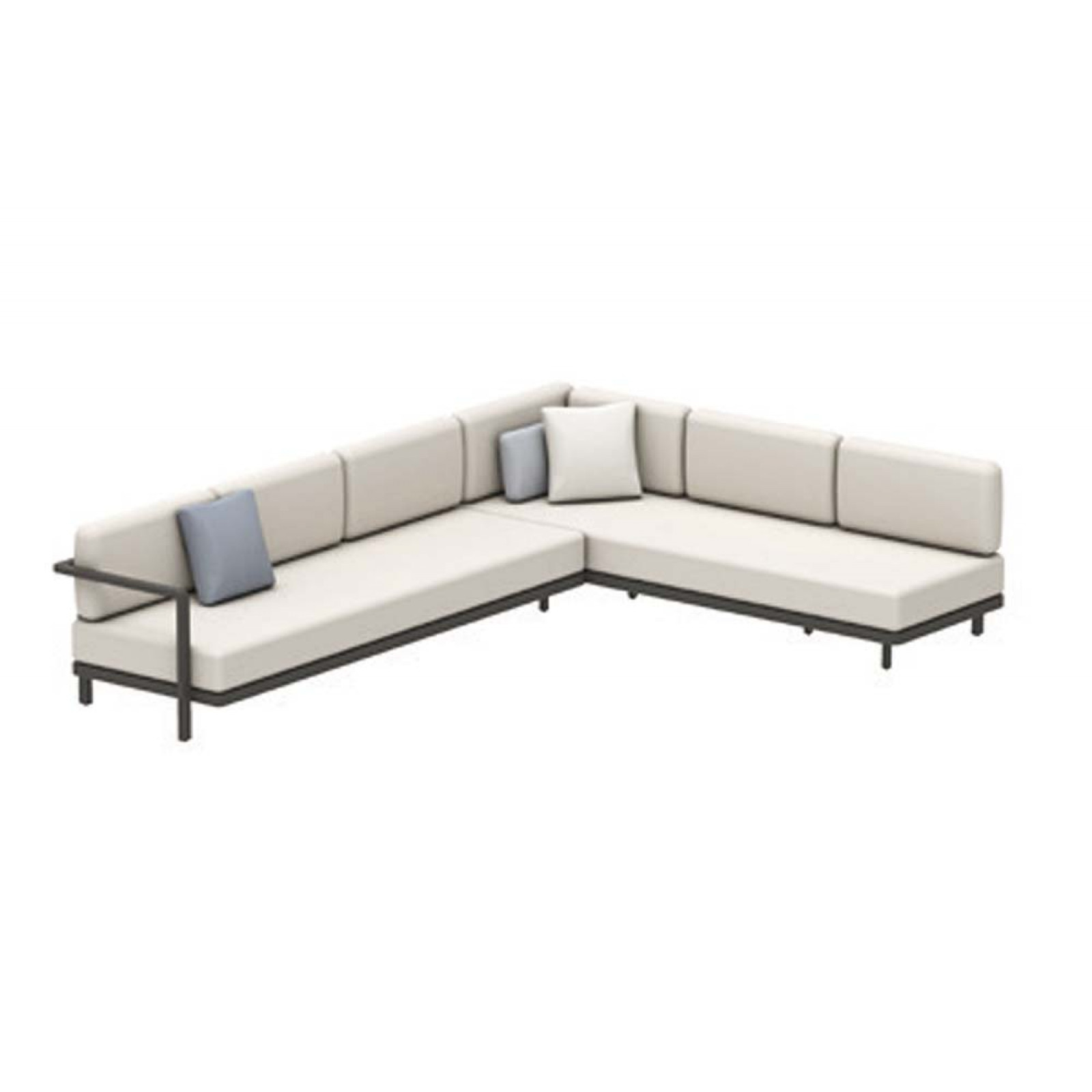 Set A • Royal Botania Red Label • Alura Lounge Ecksofa 09 mit Ablagefläche • 330 × 245 cm links