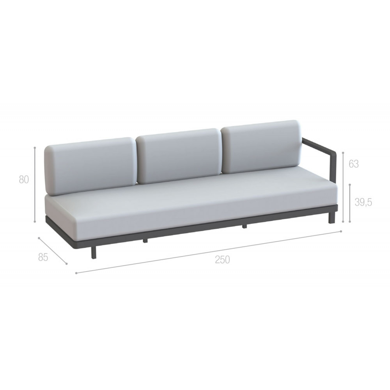 Royal Botania Red Label • Alura Lounge Endmodul 240 links