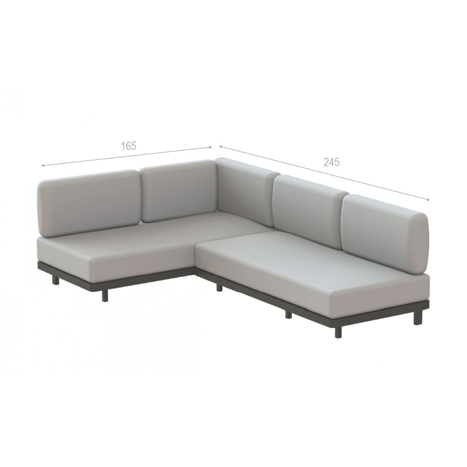 Royal Botania Red Label • Alura Lounge Ecksofa 245 rechts
