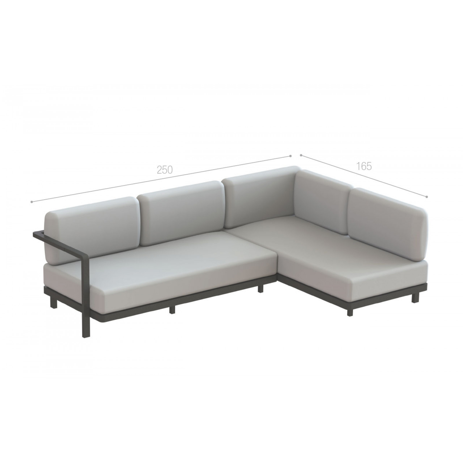 Alura Lounge Ecksofa 250 cm links