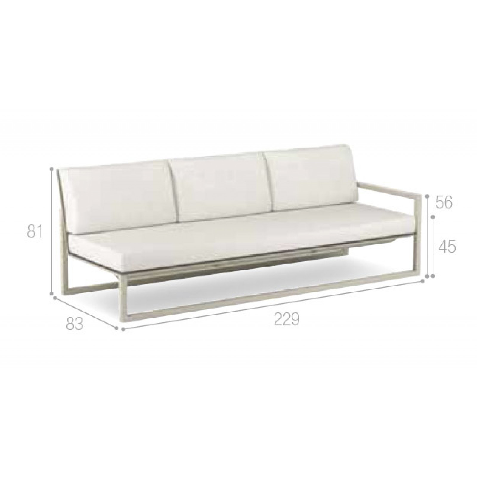 Royal Botania Ninix Lounge Modul 229 cm links