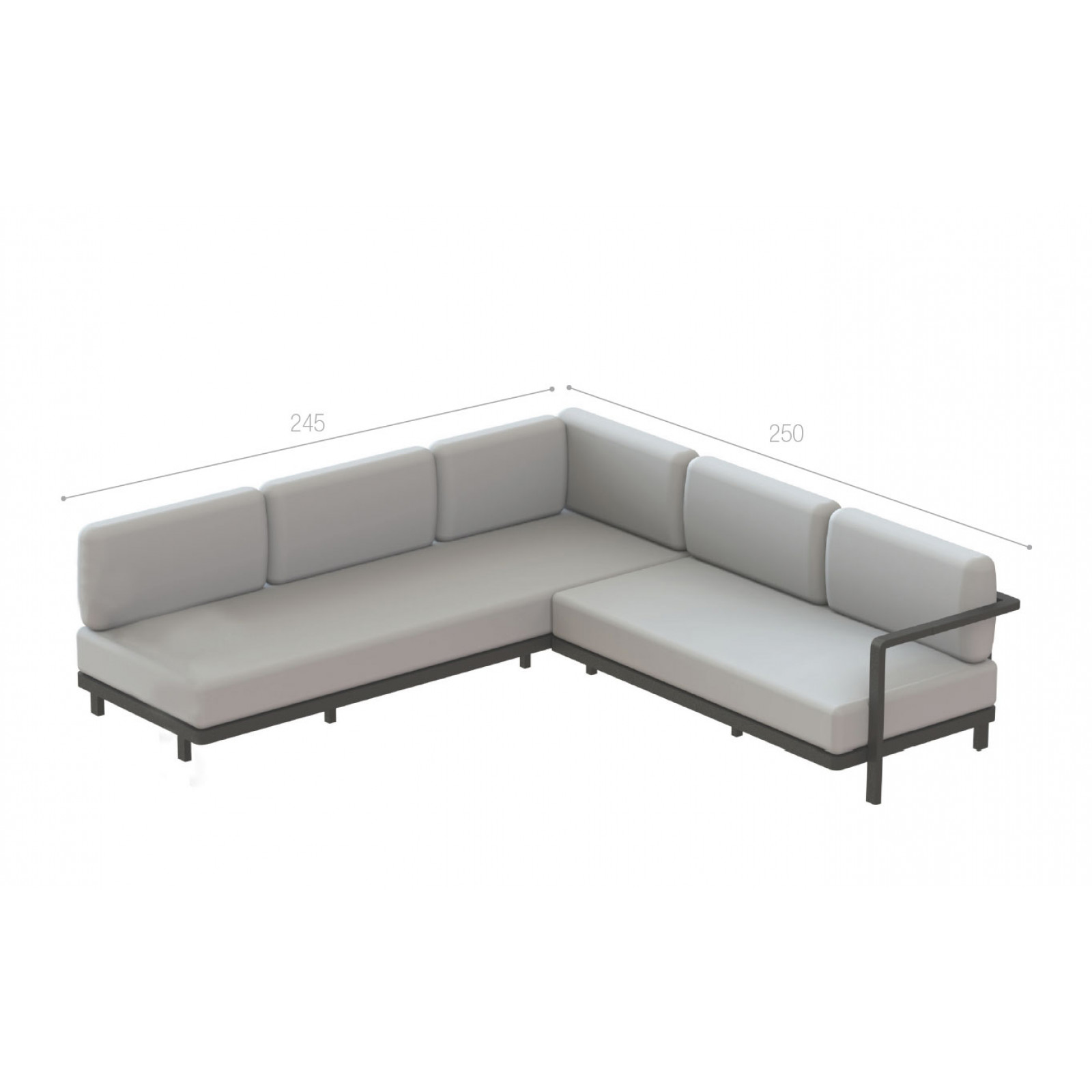 Royal Botania Red Label • Alura Lounge Ecksofa 04 • 250 × 245 links