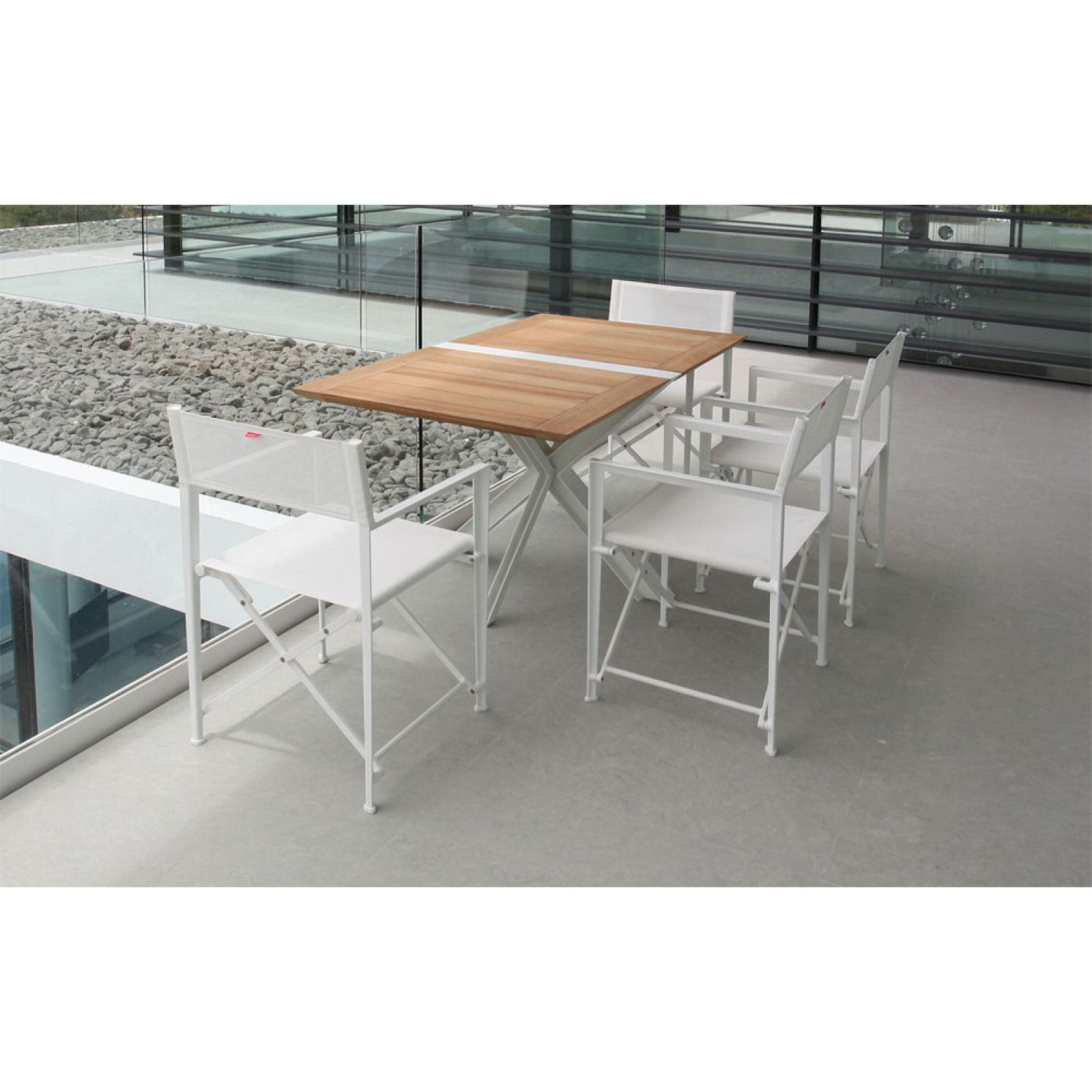 Royal Botania Red Label Klapptisch Traverse 150 cm mit Teakholzplatte