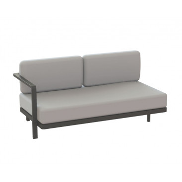 Royal Botania Red Label Alura Lounge Endmodul 160 rechts aus Aluminium beschichtet